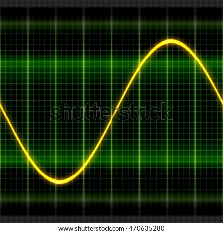 Texture wave oscilloscope 2D illustration