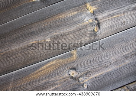 Texture wooden boards. Background wooden plates gray. Natural flooring for items from planed boards. Rural design woode. - stock photo