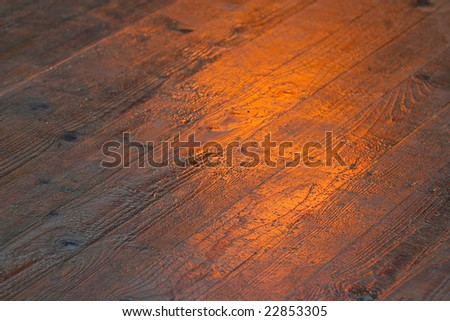 texture wooden floor orange