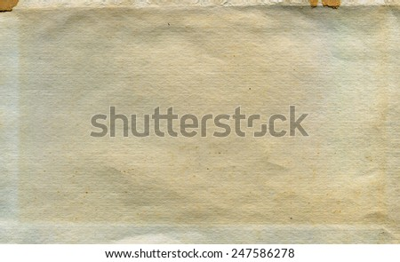 Textured aged dirty grainy paper with natural fiber parts - stock photo