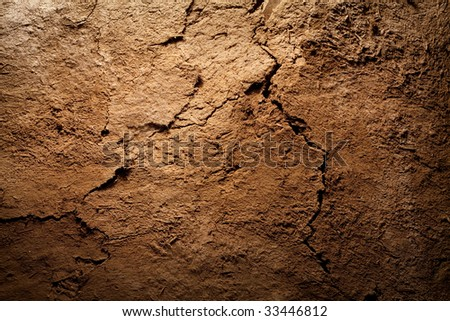 Textured background - dry cracked brown earth