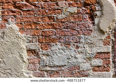 Textured background: old brick wall pattern