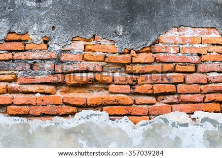 Textured background: Old concrete brick wall pattern. - stock photo