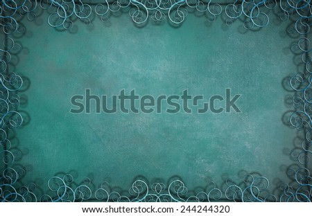 Textured Background with Flourishes - stock photo