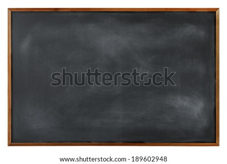 Textured Blackboard with Brown Border - stock photo