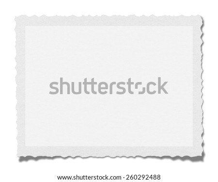Textured blank paper isolated on white background with clipping path. - stock photo