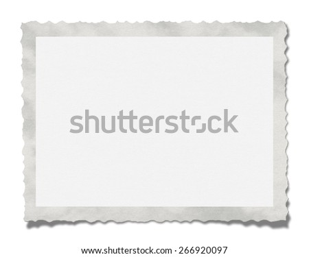 Textured blank photo. Isolated on white background.(Clipping path)