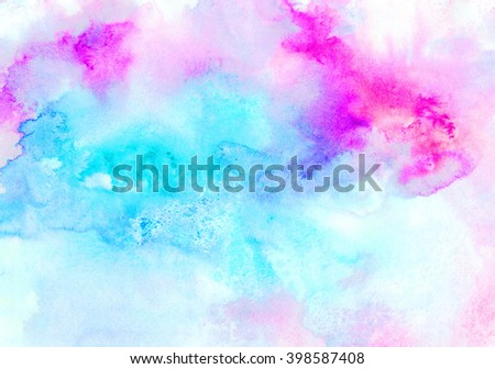 Textured blue background. Abstract painting pattern. Bright texture for creative graphic design.  - stock photo