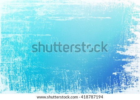 Textured blue surface with white grunge edges