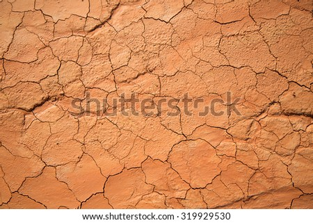 textured cracked clay earth in the desert - stock photo