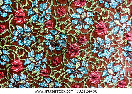 textured fabric  of flower vintage style - stock photo