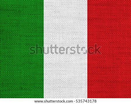 Textured flag of Italy
