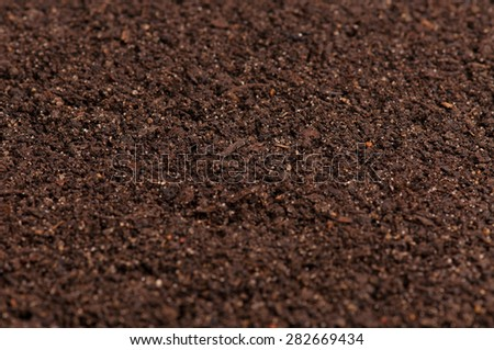 Textured friable organic soil background - stock photo