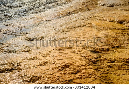 Textured Ground, Yellowstone National Park - stock photo