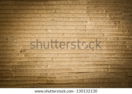 Textured grunge of cardboard with natural fiber parts - stock photo