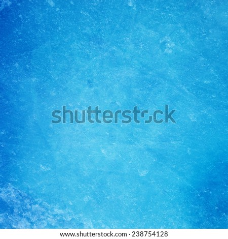 Textured ice blue frozen rink winter background  - stock photo