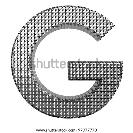 Textured metallic font g - stock photo