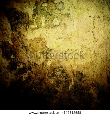 Textured old canvas fabric as background