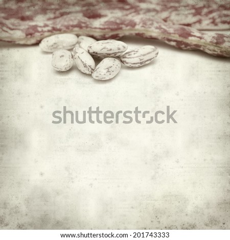 textured old paper background with beans