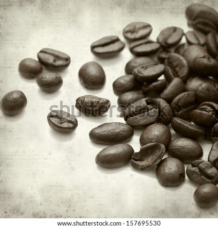textured old paper background with coffee