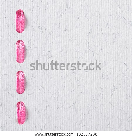 textured paper background with string - stock photo