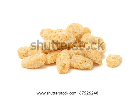 Textured Soy Protein (Soy Meat) Isolated on White Background - stock photo