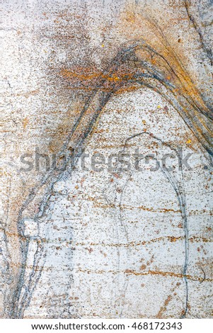 textured steel plate with corrosion and rusty messy stains background