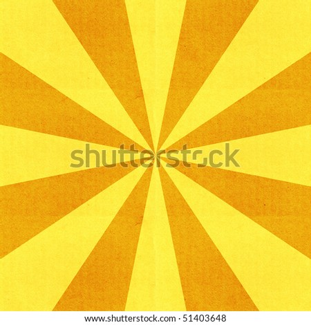 Textured yellow radiant background