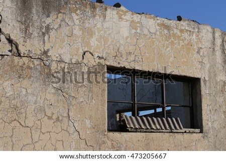 Textures of a ruined abandoned farm house, South Africa