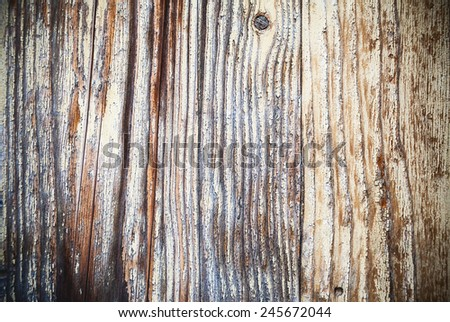 Textures of an old wooden wall, closeup view.  - stock photo