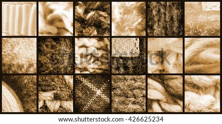 textures of different fabrics