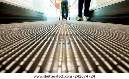 textures on escalator shopping abstract background - stock photo