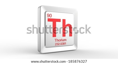 Th symbol 90 material for Thorium chemical element of the periodic table