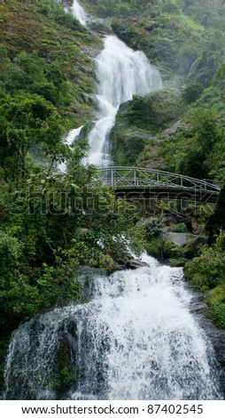 Thac Bac or Silver waterfall in Sapa Valley, Vietnam