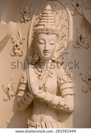 Thai angle in thai temple - stock photo