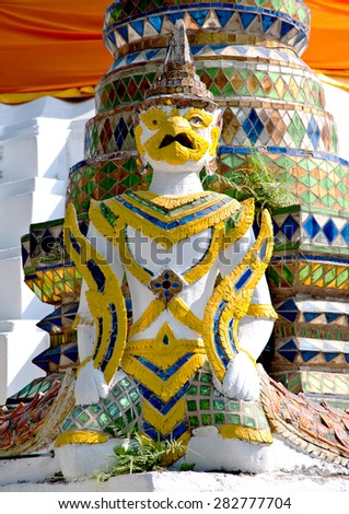 Thai angle statue - stock photo