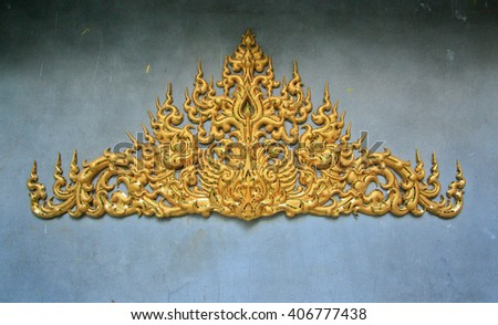 thai architecture wall