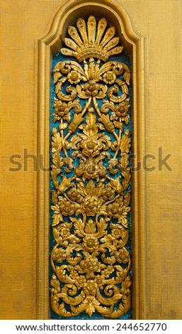 Thai art at Wat Bowonniwet Vihara - stock photo