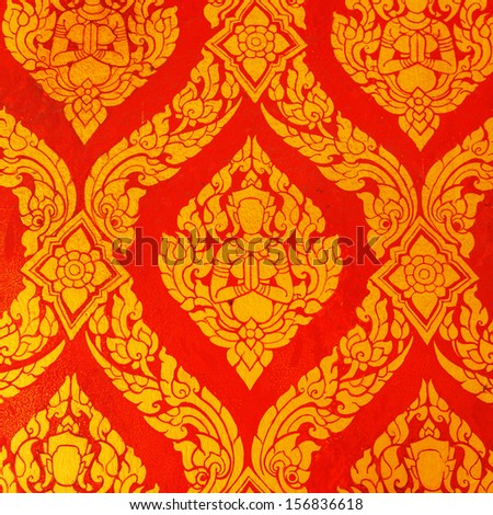 Thai art wall pattern - stock photo