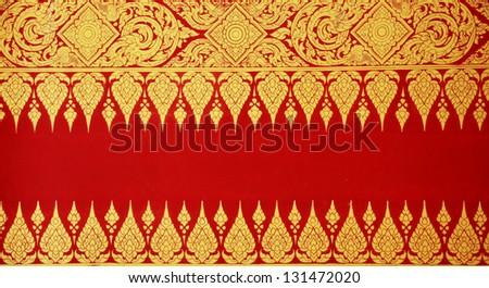 Thai art wall pattern background - stock photo