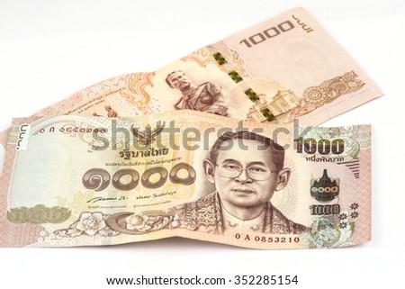Thai 1000 baht banknotes , Thai money New   - stock photo