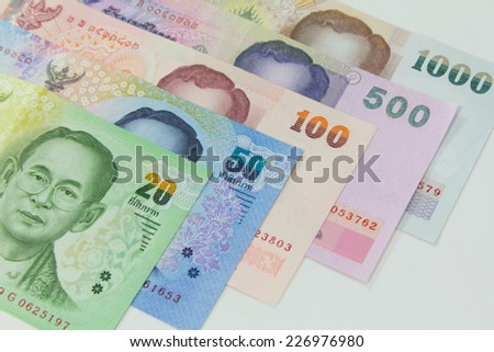 Thai Bank Notes - stock photo