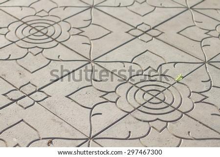 Thai Brick footpath background. - stock photo