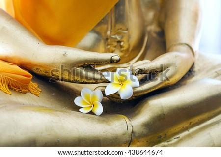 Thai Buddha stucco  - stock photo