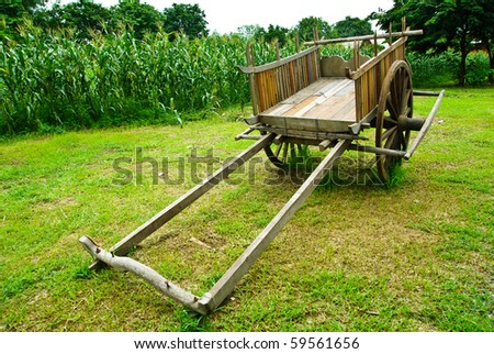 thai cart in the farm