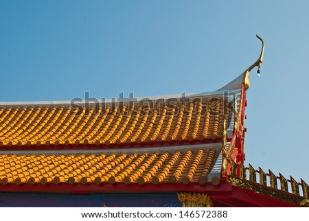 Thai church roof