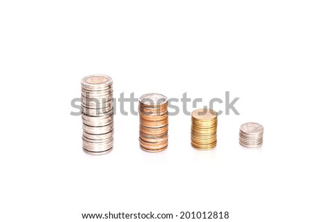 thai coin on paper background
