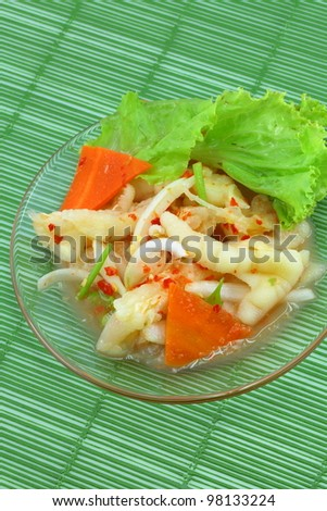 Thai cuisine Fried Sweet Hand made from chicken feet. - stock photo