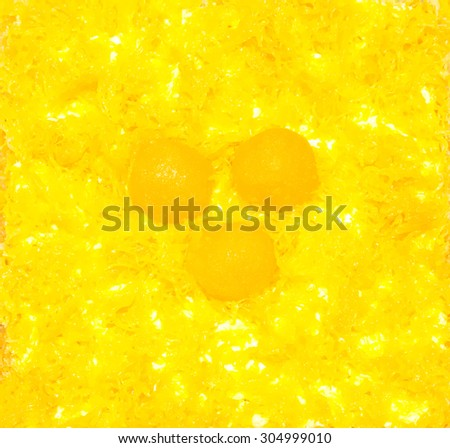 Thai dessert, Foythong Cake or Gold Egg Yolks Thread Cake is a dessert of Thailand soft focus