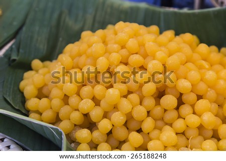thai dessert, thai sweets in the tray - stock photo
